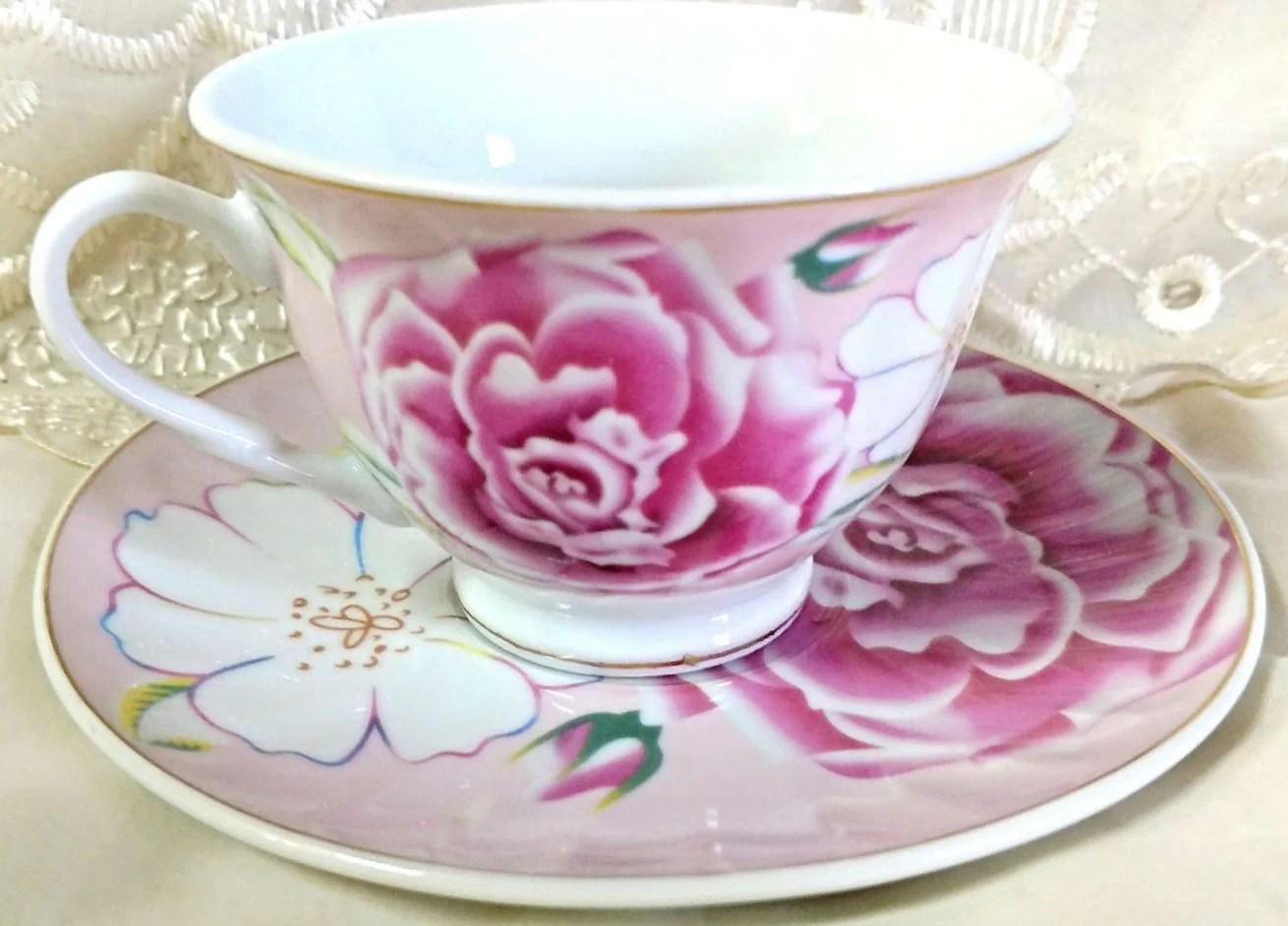 Inspiring Saucer Bulk Wholesale Teacups Pink Morning Wholesale Tea Cup Saucers Cheap Price Free Shipping Heart Shaped Tea Cup Set furniture Heart Shaped Tea Set