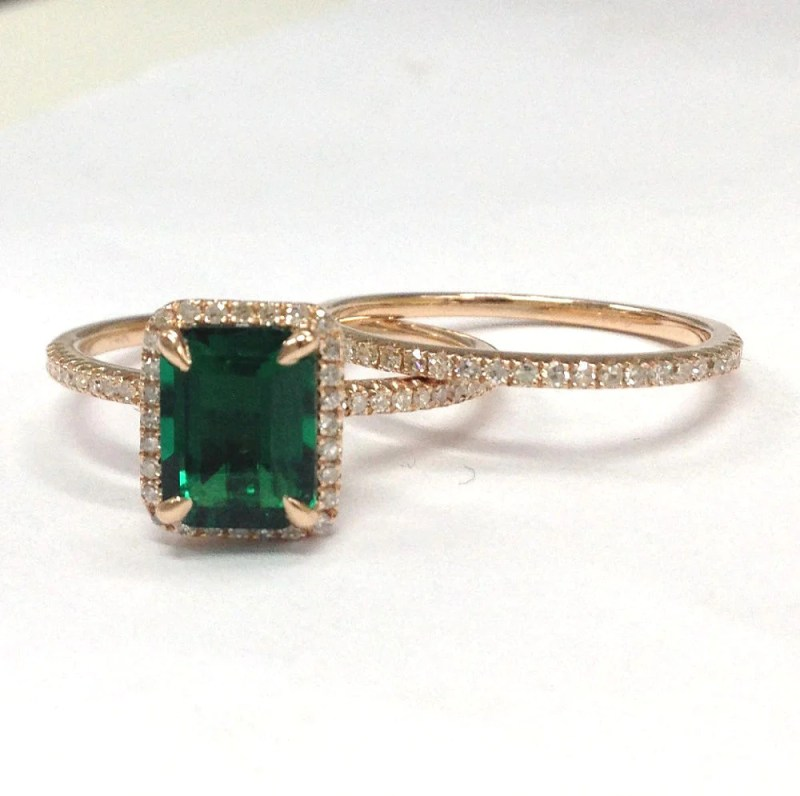 Large Of Emerald Engagement Rings