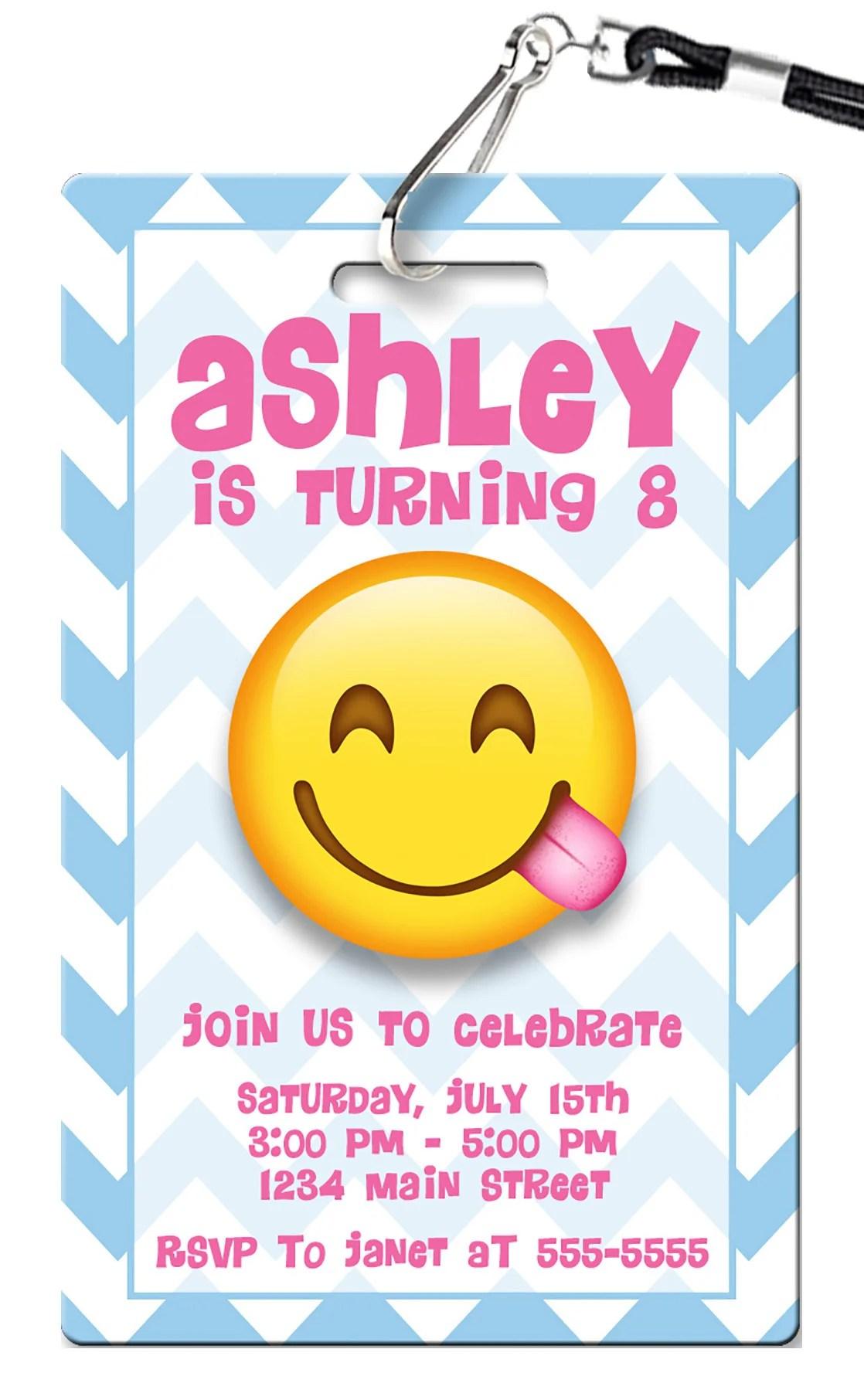 Fullsize Of Emoji Birthday Invitations