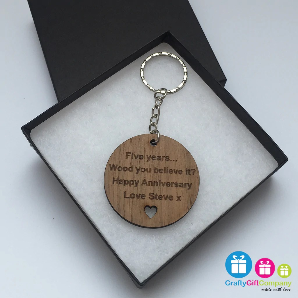 personalised wood you believe it 5th wedding anniversary gift present solid walnut 5th wedding anniversary Crafty Gift Company Personalised Wood You Believe It 5th Wedding Anniversary