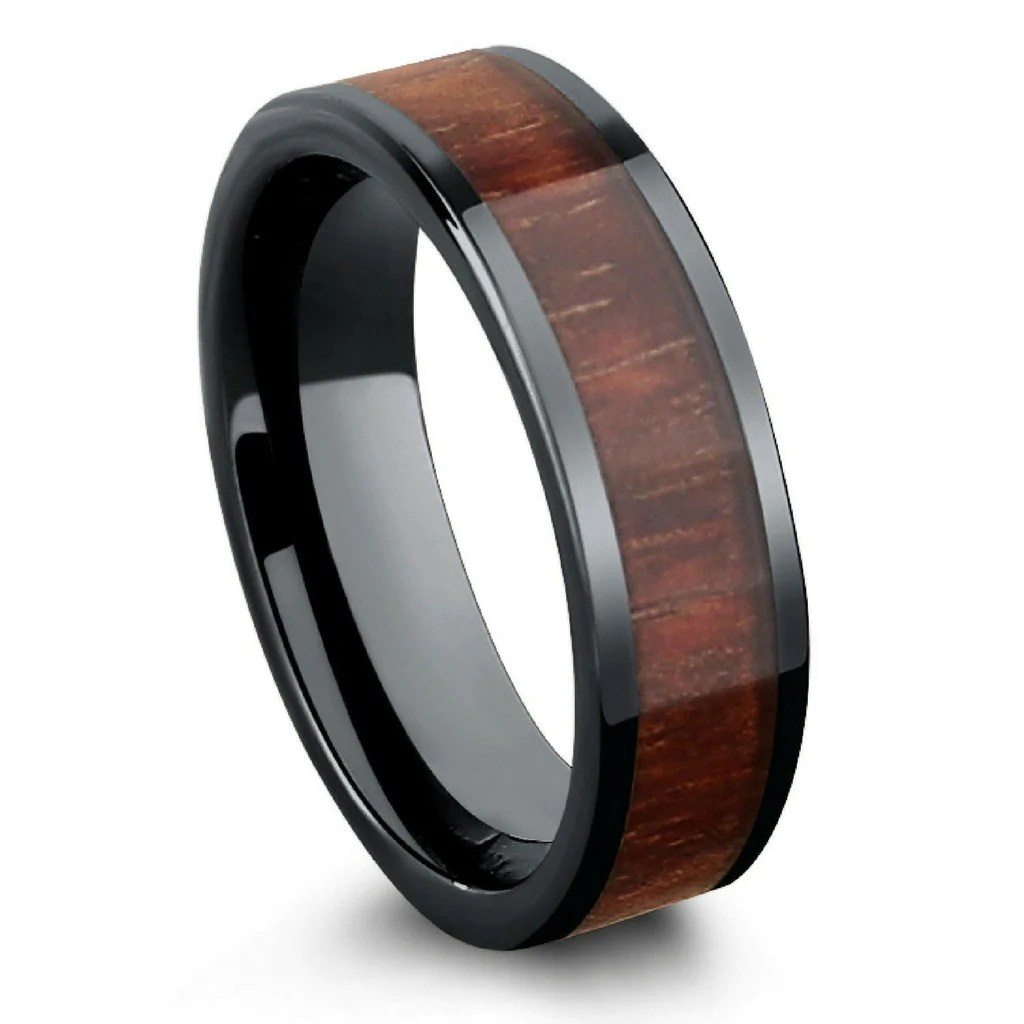 Mens Tungsten Carbide Rings mens ceramic wedding bands Ninja Star Tungsten Carbide Spinning Wedding Band Ring