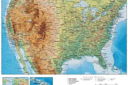 digital united states terrain map in adobe illustrator