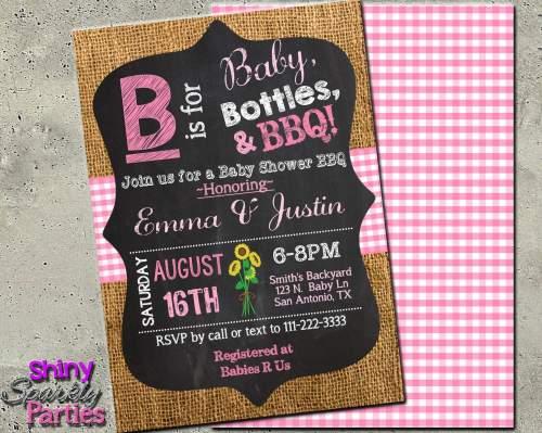 Medium Of Girl Baby Shower Invitations