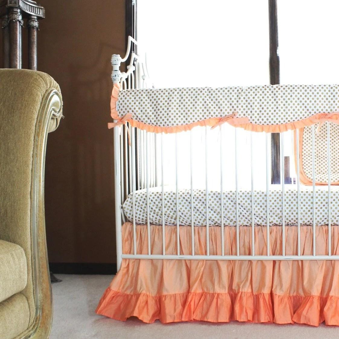 Inspirational Coral Ruffle Crib Bedding Set Daybed Bedding G Dots Coral Ruffle Crib Bedding Set Daybed Bedding Daybed Bedding Sets Full Size Daybed Bedding Sets G Dots Toddlers baby Daybed Bedding Sets