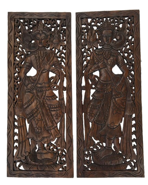 Remarkable Wood Carved Wall Large Carved Wood Thai Decorative Wood Asian Wood Carved Wall Art Handmade Wall Decor Wood Wall Decor Farmhouse Wood Wall Decor Canada