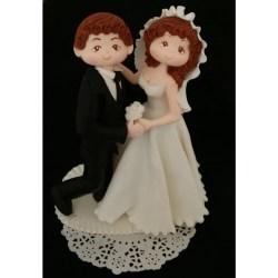 Small Crop Of Bride And Groom Cake Topper