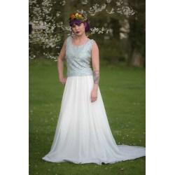 Small Crop Of Dip Dye Wedding Dress