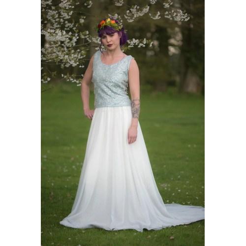 Medium Crop Of Dip Dye Wedding Dress