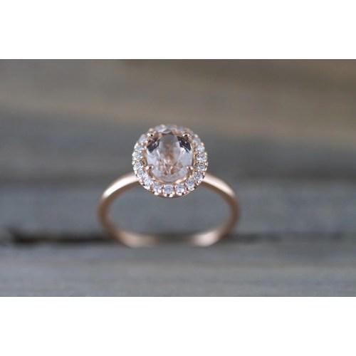 Medium Crop Of Morganite Rose Gold Ring