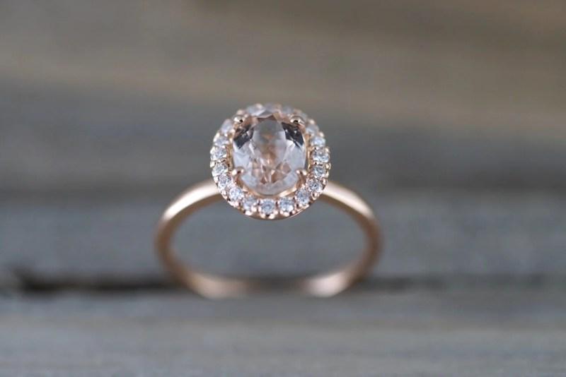 Large Of Morganite Rose Gold Ring