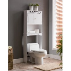 Small Crop Of White Wood Bathroom Shelves