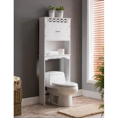 Medium Crop Of White Wood Bathroom Shelves