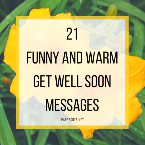 Medium Of Get Well Soon Message