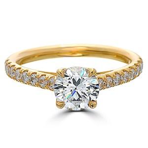 Magnificent Love Round Carat Diamond Shank Yellow G 1 Carat Diamond Wedding Band 1 Carat Diamond Value Point Love Round Carat Diamond Shank Yellow Gengagement Ring Point