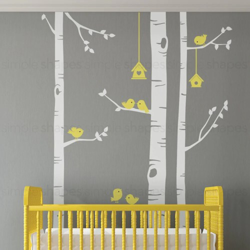 Medium Crop Of Birch Tree Wall Decal
