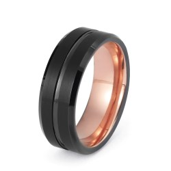 Majestic Wedding Ring Black Tungsten Ring Rose G Wedding Band Ring Brushed Tungsten Carbide 8mm 18k Tungsten Ring Man Rose G Ring Mens Wedding Band Male Engagement Ring Women Anniversary Promise His H