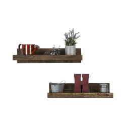 Small Crop Of Wood Floating Shelves