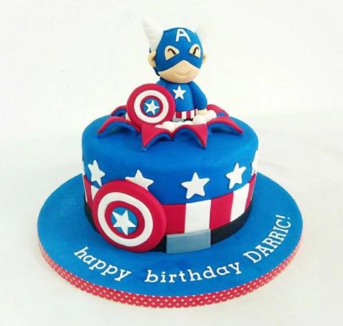 Medium Of Captain America Cake