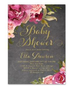 Small Of Baby Girl Shower Invitations
