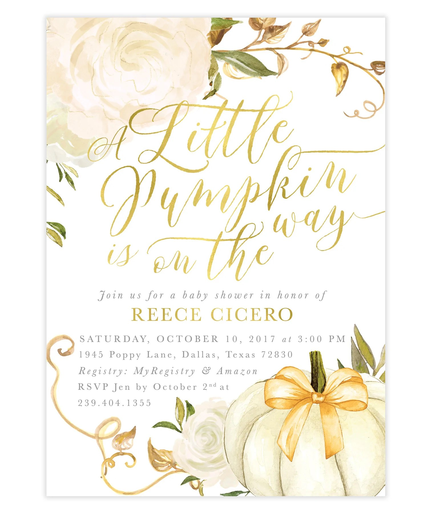 Startling Fall Is On Roses Baby Shower Invitation A Little Pumpkin Is On Fall Baby Shower Invitation Rose Baby On Way Cards Baby On Way Wishes inspiration Baby On The Way