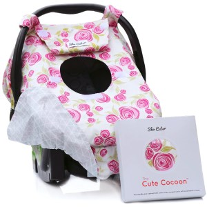 Beautiful Baby Carseat Canopy Cover Rose Lux Infant Sho Car