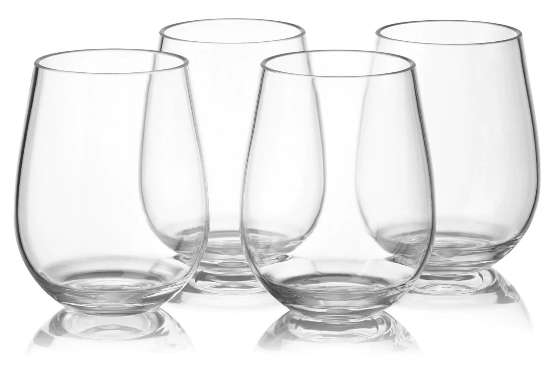 Pristine Notmog Stemless Wine Glass Bulk Set Unbreakable Reusable Plasticdrinking Glass Side Tumbler Notmog Stemless Wine Glass Bulk Set Unbreakable Reusable Plastic inspiration Bulk Wine Glasses