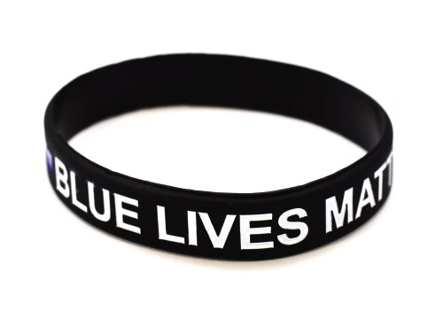 Medium Of Thin Blue Line Bracelet