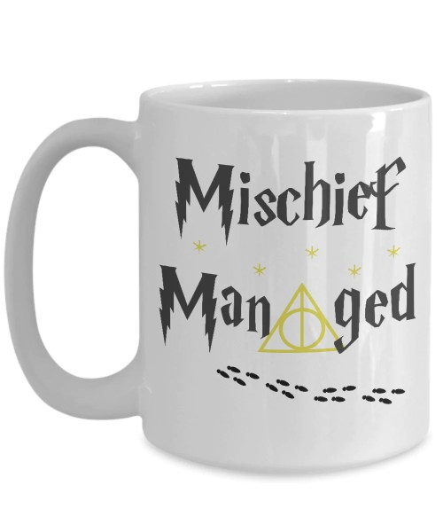 Medium Of Mischief Managed Mug