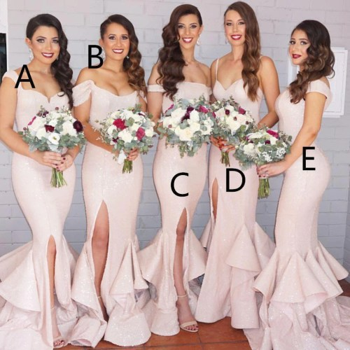 Medium Crop Of Blush Pink Bridesmaid Dresses