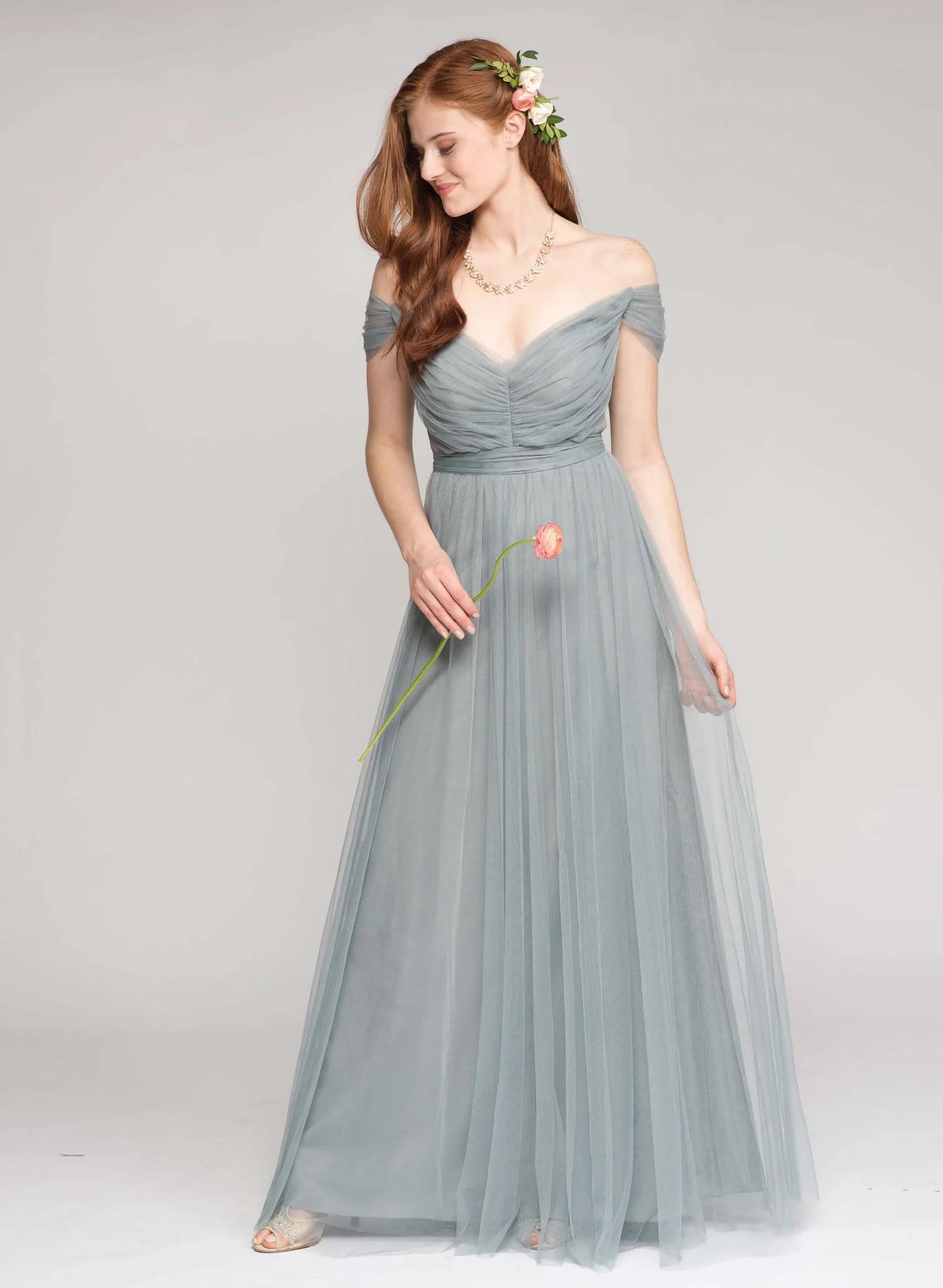 Fullsize Of Slate Blue Bridesmaid Dresses