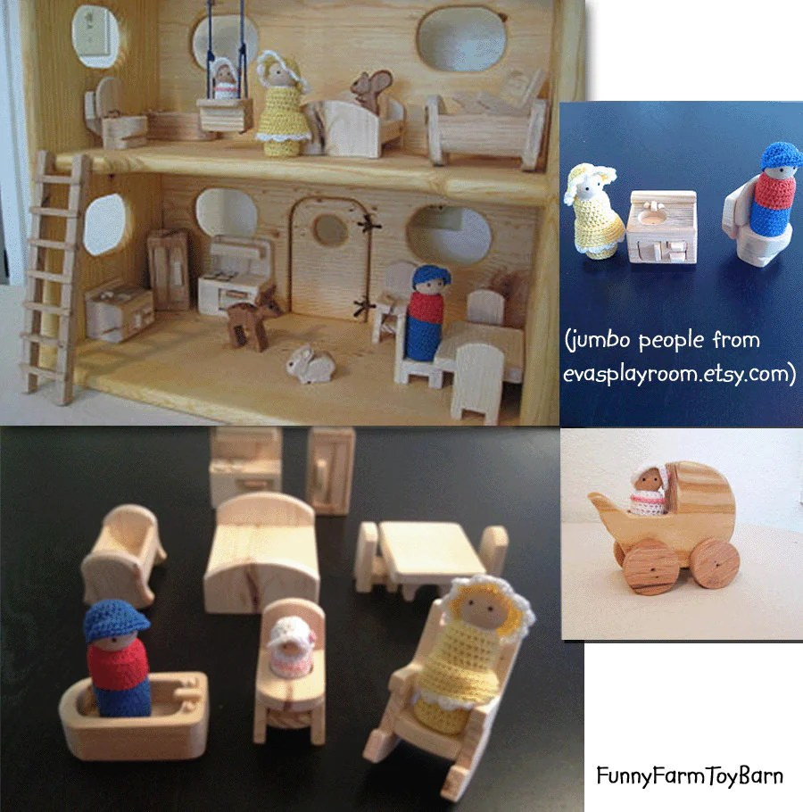 Peculiar Barbies Doll House Furniture Toddlers Dollhouse Furniture Waldorf Peg People Rustic Cabin Custom Madeto Order Dollhouse Furniture Waldorf Peg People Rustic Cabin Custom Doll House Furniture baby Doll House Furniture