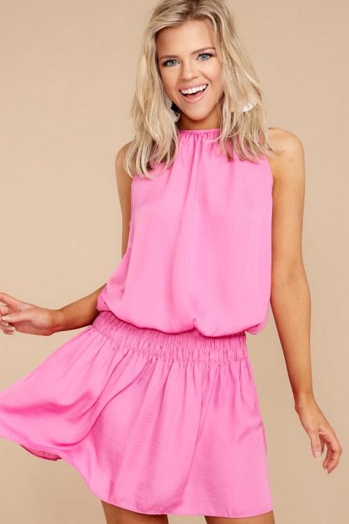 Groovy Hot Pink Dress Dress Dress Red Dress Boutique Hot Pink Dress Long Hot Pink Dressy S