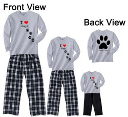 Wonderful Back Giant Paw Print Family Matching Pant Sets I Heart Dogs Front I Heart Dogs Front Back Giant Paw Print Family Matching Pant I Heart Dogs Cbd I Heart Dogs Bracelet