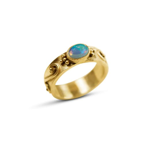 Medium Of Opal Wedding Rings