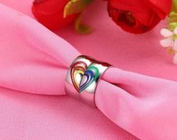 Gracious Lesbian Lgbt Pride Wedding Rings Lesbian Wedding Ring Lesbian Wedding Ring Etiquette Heart Rainbow Ring Gay Lesbian Lgbt Pride Wedding Rings Heart Rainbow Ring Gay