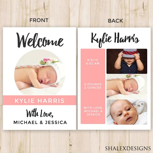 Medium Crop Of Birth Announcement Template
