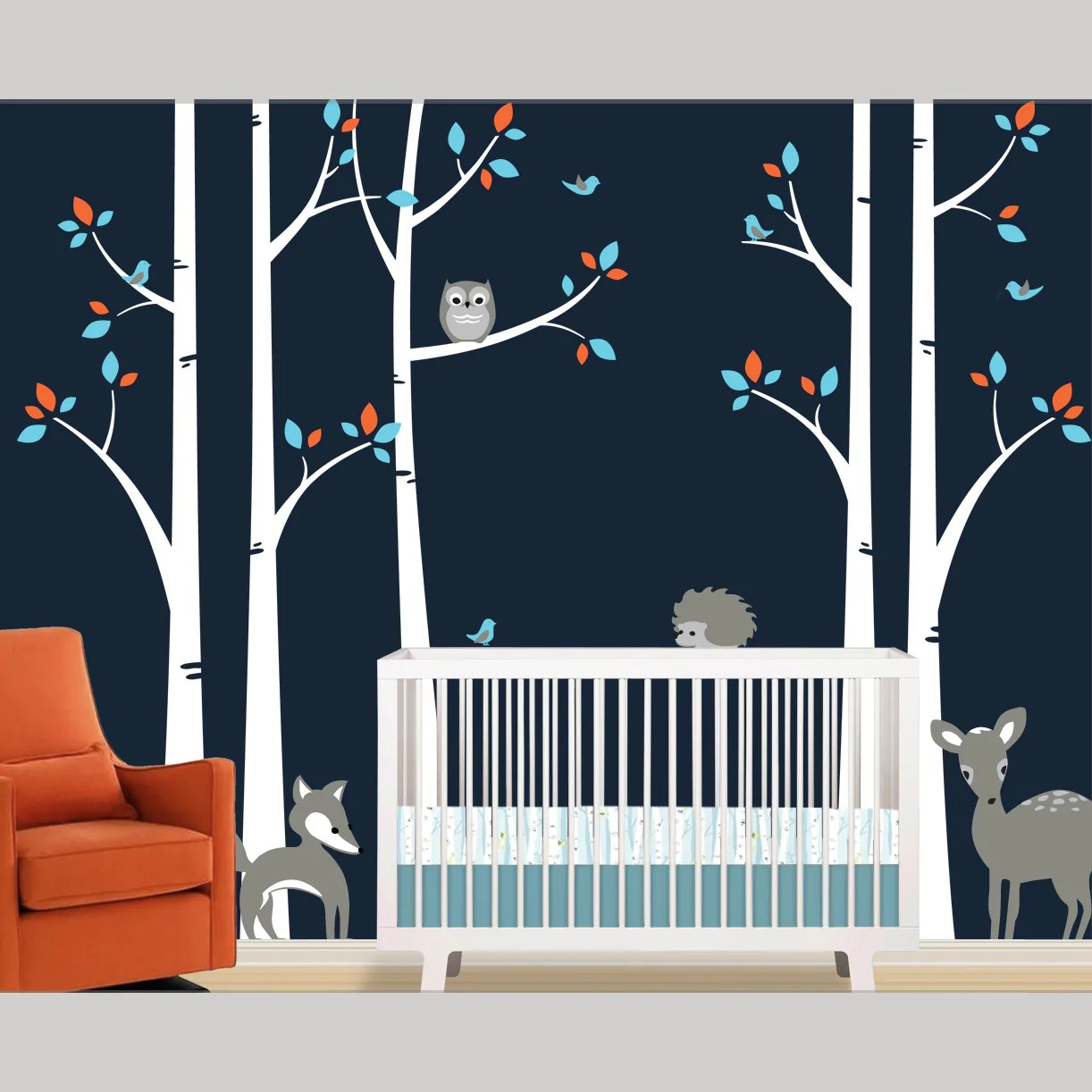 Particular Birch Tree Wall Decal Woodland Forest Removable Decals Birch Tree Wall Decal Woodland Forest Removable Decals Lulukuku Birch Tree Vinyl Wall Decal Birch Tree Wall Decal Fox houzz 01 Birch Tree Wall Decal