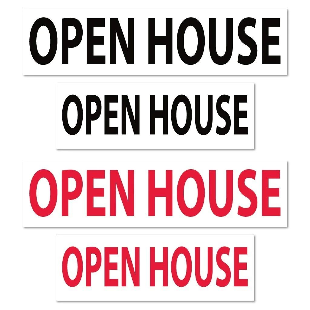 Fullsize Of Open House Sign