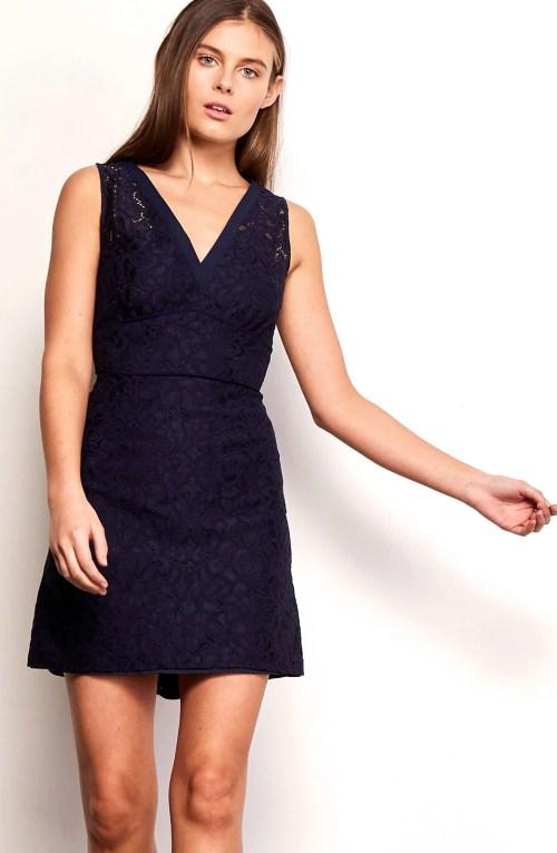 Medium Of Navy Blue Lace Dress
