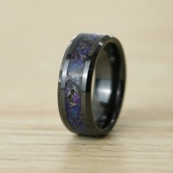 Artistic Ceramic Glowstone Ring Deep Space Black Ceramic Ring Handmade Jewelry Patrick Adair Designs King Will Rings Review King Will Rings