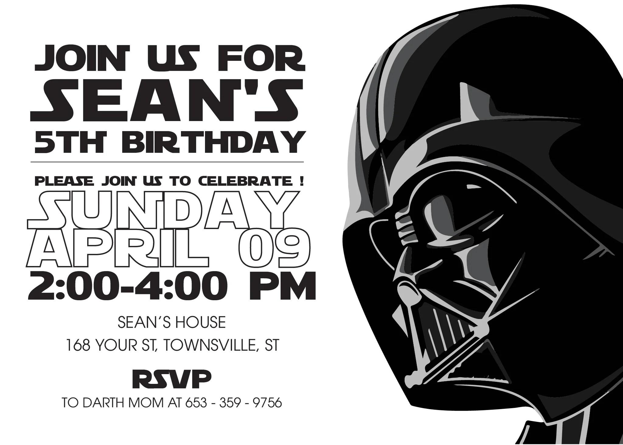 Fullsize Of Star Wars Invitations