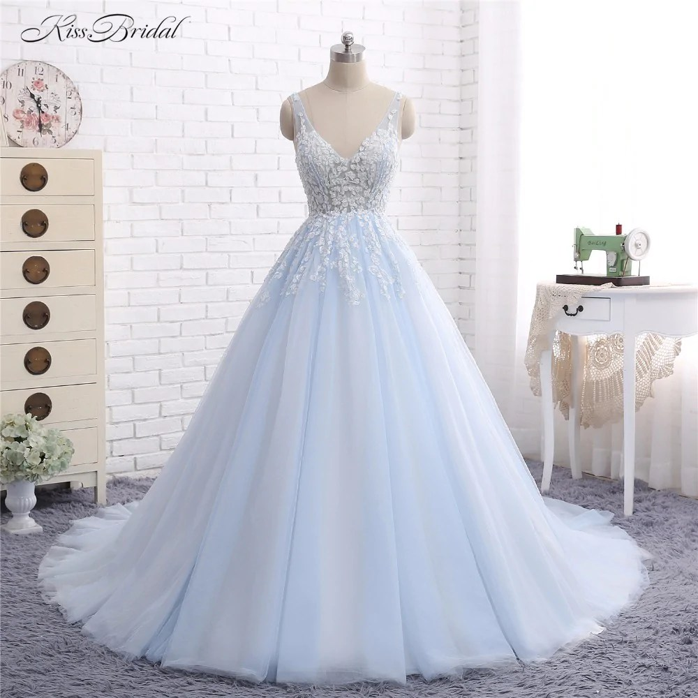Fullsize Of Light Blue Wedding Dress