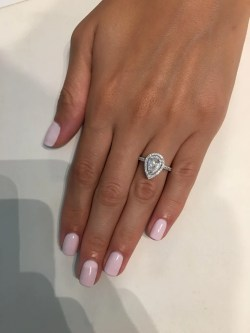 Small Of Pear Shaped Engagement Ring
