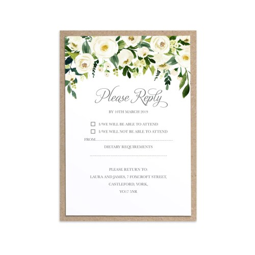 Medium Of Wedding Rsvp Cards