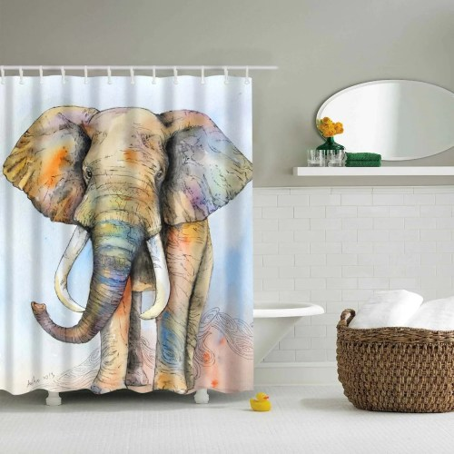Medium Of Elephant Shower Curtain