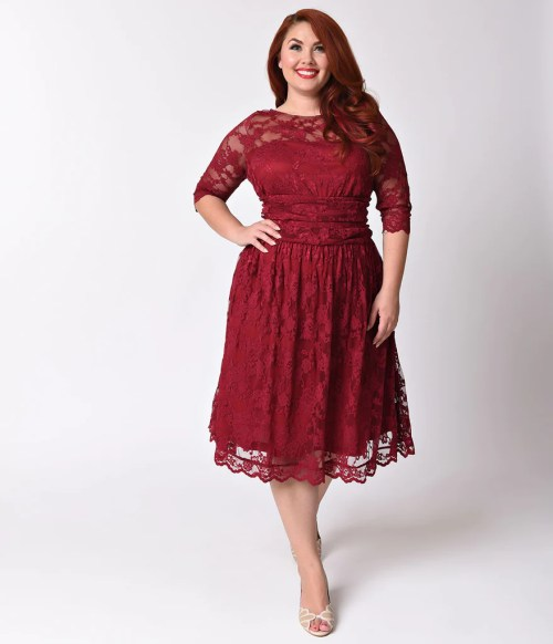 Medium Of Red Lace Dress