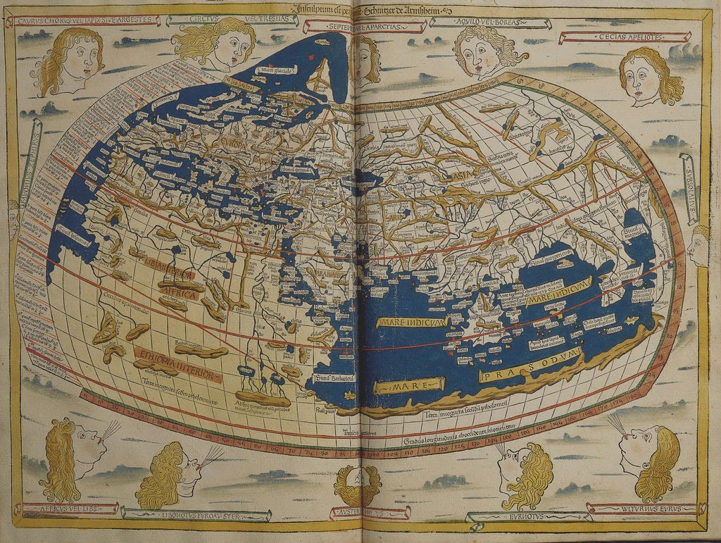 World map from Ptolemy s Cosmographia of 1492 posters   prints by     Detail of World map from Ptolemy s Cosmographia of 1492 by Ptolemy
