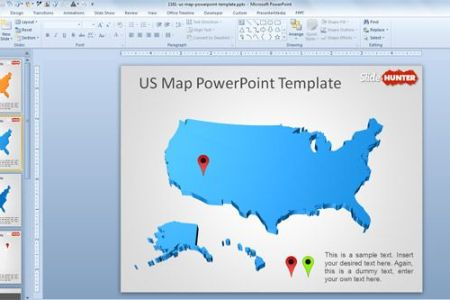 united states map powerpoint template 6323 free powerpoint. free, Modern powerpoint