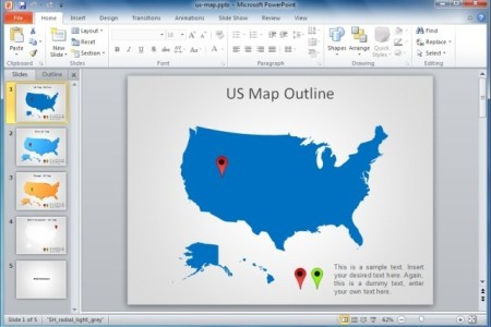Best Editable USA Map Designs For Microsoft PowerPoint US And - Map of the us for powerpoint