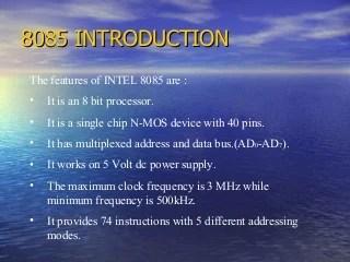 8085 Paper Presentation slides,ppt,microprocessor 8085 ,guide, instruction set